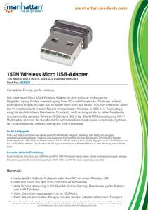 150N Wireless Micro USB-Adapter