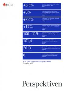 +3% +12% 100 - 115 101,4 2013 8 +7,6% +6,5% - Pictet Perspectives