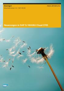 4HANA Cloud 1705 - SAP Help Portal