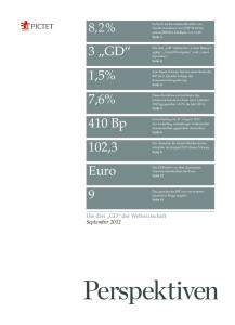 """8,2% 3 """"GD"""" 7,6% 410 Bp 102,3 Euro 9 1,5% - Pictet Perspectives"""