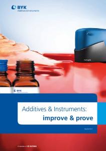 Additives & Instruments: improve & prove - BYK Additives & Instruments