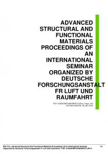 advanced structural and functional materials ...  AWS