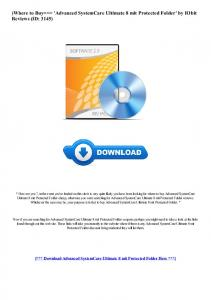 Advanced SystemCare Ultimate 8 mit Protected Folder
