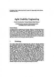 Agile Usability Engineering - Human-Computer Interaction