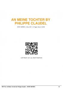 an meine tochter by philippe claudel -70pdf-amtbpc  AWS