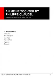 an meine tochter by philippe claudel amtbpcpdf-120  AWS