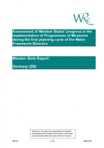 Assessment of Member States' progress in the implementation of ...