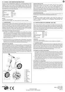 aufbau- und bedienungsanleitung instructions on assembly and use