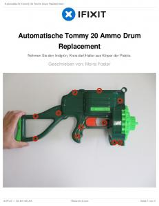 Automatische Tommy 20 Ammo Drum Replacement