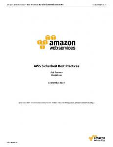 AWS Sicherheit Best Practices