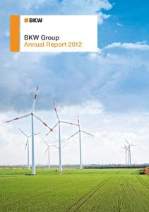 BKW Group Annual Report 2012