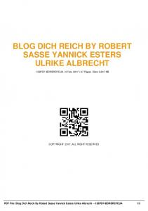 blog dich reich by robert sasse yannick esters ulrike ...  AWS