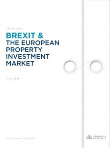 Capital Views: Brexit & The European Property Investment Market July ...