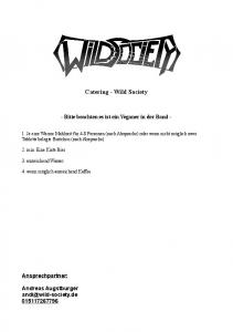 Catering - Wild Society