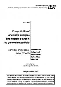 Compatibility of renewable energies and nuclear power in the