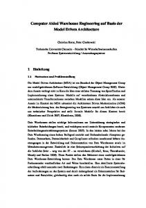 Computer Aided Warehouse Engineering auf Basis der Model Driven ...