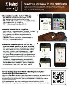connecting your conx to your smartphone - Bushnell