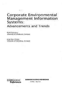 Corporate Environmental Management Information Systems - GBV