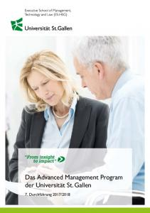Das Advanced Management Program der Universität St. Gallen