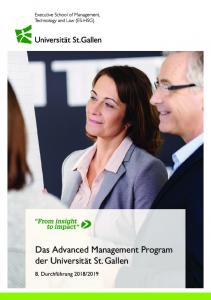 Das Advanced Management Program der Universität St. Gallen - HBM ...