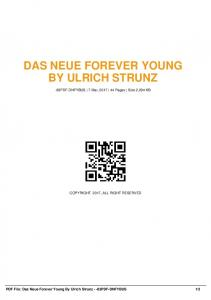 das neue forever young by ulrich strunz -83pdf ...  AWS