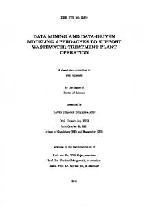 data mining and data-driven modeling approaches ... - Semantic Scholar