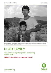 Dear Family: How European migration policies are keeping families ...