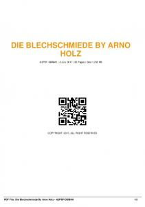 die blechschmiede by arno holz -63pdf-dbbah  AWS