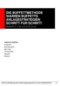 die buffettmethode warren buffetts anlagestrategien ...  AWS