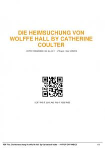 die heimsuchung von wolffe hall by catherine coulter ...  AWS
