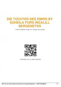 die tochter des emirs by soheila fors ingalill ...  AWS
