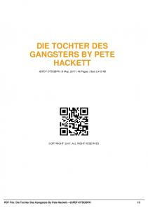 die tochter des gangsters by pete hackett -85pdf ...  AWS