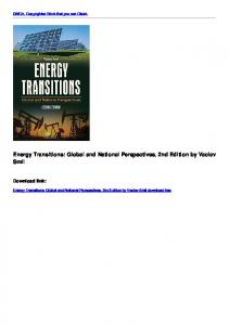 Energy Transitions: Global and National Perspectives, 2nd ...