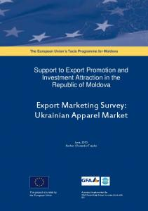 Export Marketing Survey: Ukrainian Apparel Market