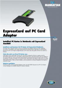 ExpressCard auf PC Card Adapter - Manhattan Products