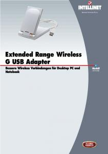 Extended Range Wireless G USB Adapter - Intellinet Network