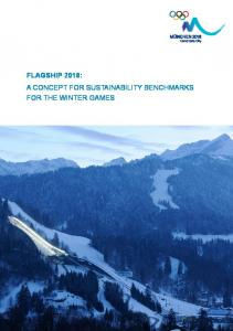 flagship 2018: a concept for sustainability benchmarks for the winter ...