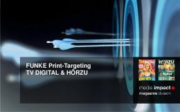 FUNKE Print-Targeting TV DIGITAL & HÖRZU