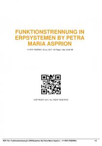 funktionstrennung in erpsystemen by petra maria ...  AWS