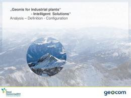 Geonis for industrial plants - intelligent solutions