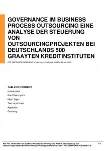 governance im business process outsourcing eine ...  AWS