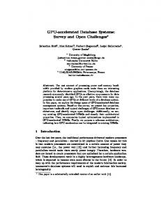 GPU-accelerated Database Systems: Survey and Open ... - CiteSeerX