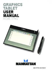 GRAPHICS TABLET USER MANUAL