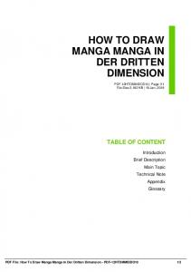 how to draw manga manga in der dritten dimension pdf