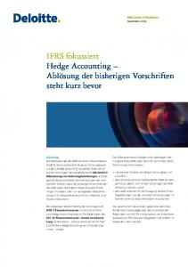 IFRS fokussiert Hedge Accounting - IAS Plus