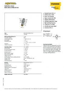 Inductive sensor - Wille Electric Supply