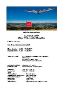 Int. TIROL OPEN