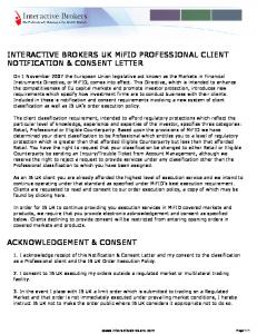 Interactive Brokers (U.K.) Limited MiFID Professional Client