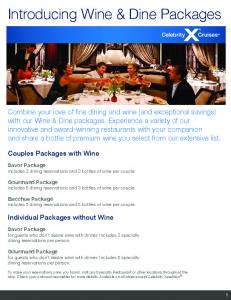 Introducing Wine & Dine Packages - Celebrity Cruises