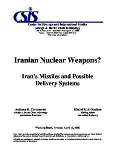 Iranian Nuclear Weapons?
